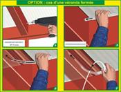 Passage du câble sous toiture fermée